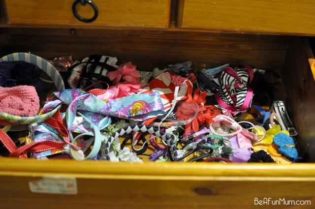 organising hair thigns for girls