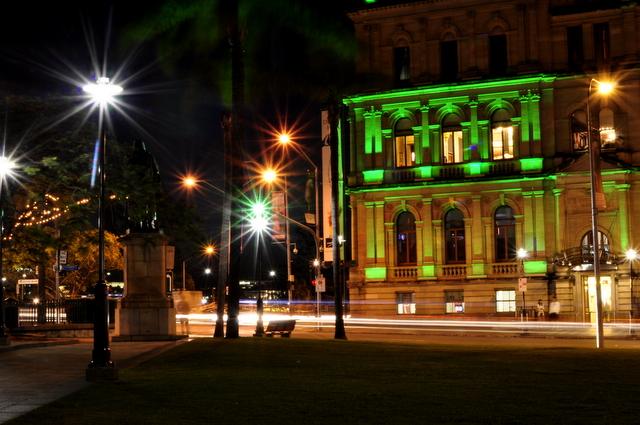 brisbane city at night -- casino