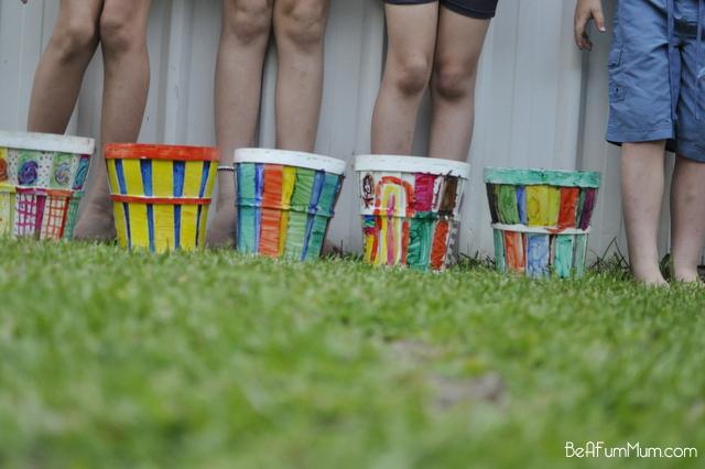 rainbow pot garden