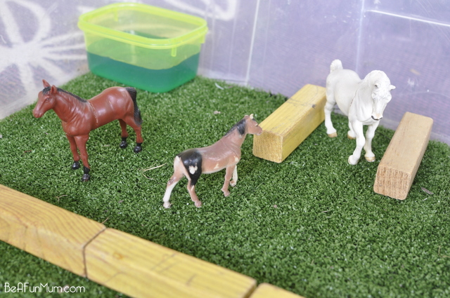 farm imaginative play scene