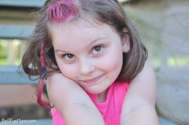 Pink hair...coloured hair...pink plait