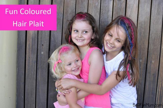 pink hair coloured plait