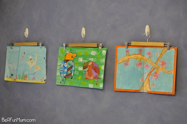 displaying children artwork