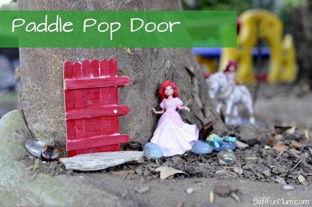 paddle pop door / popsicle stick door