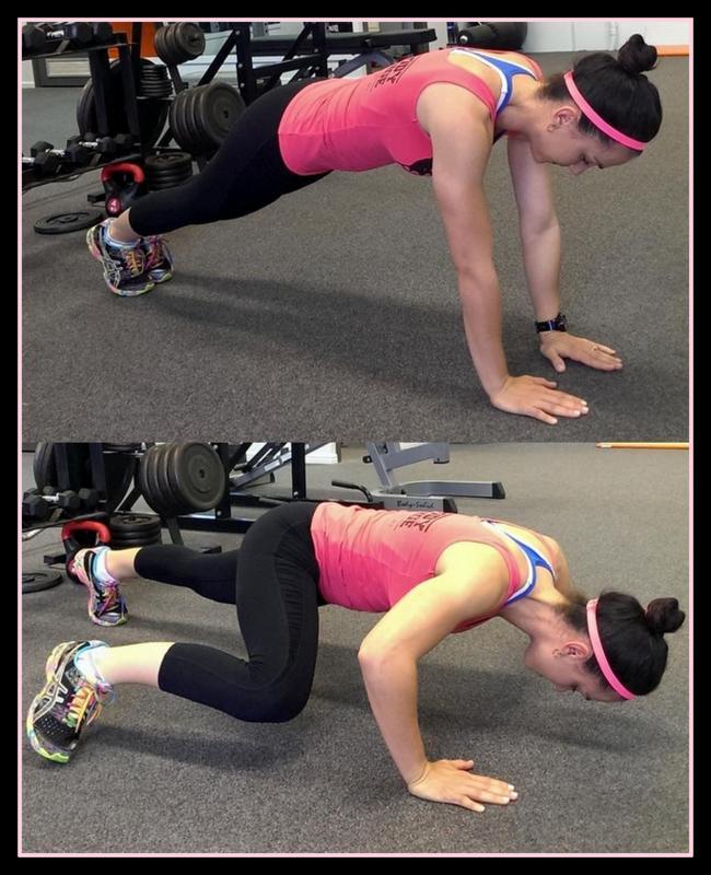 15 minute circuit -- spiderman pushups