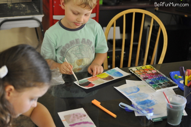 watercolour painting with kids