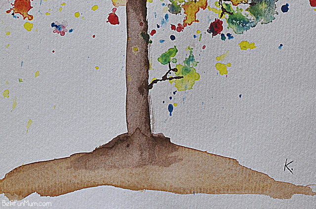 watercolour triad tree