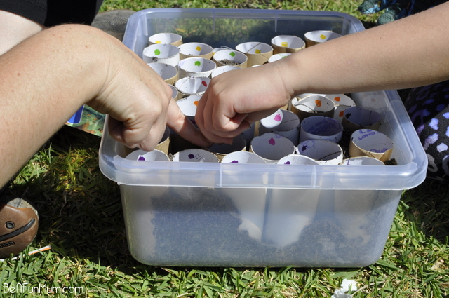 gardening with kids -- planting seeds