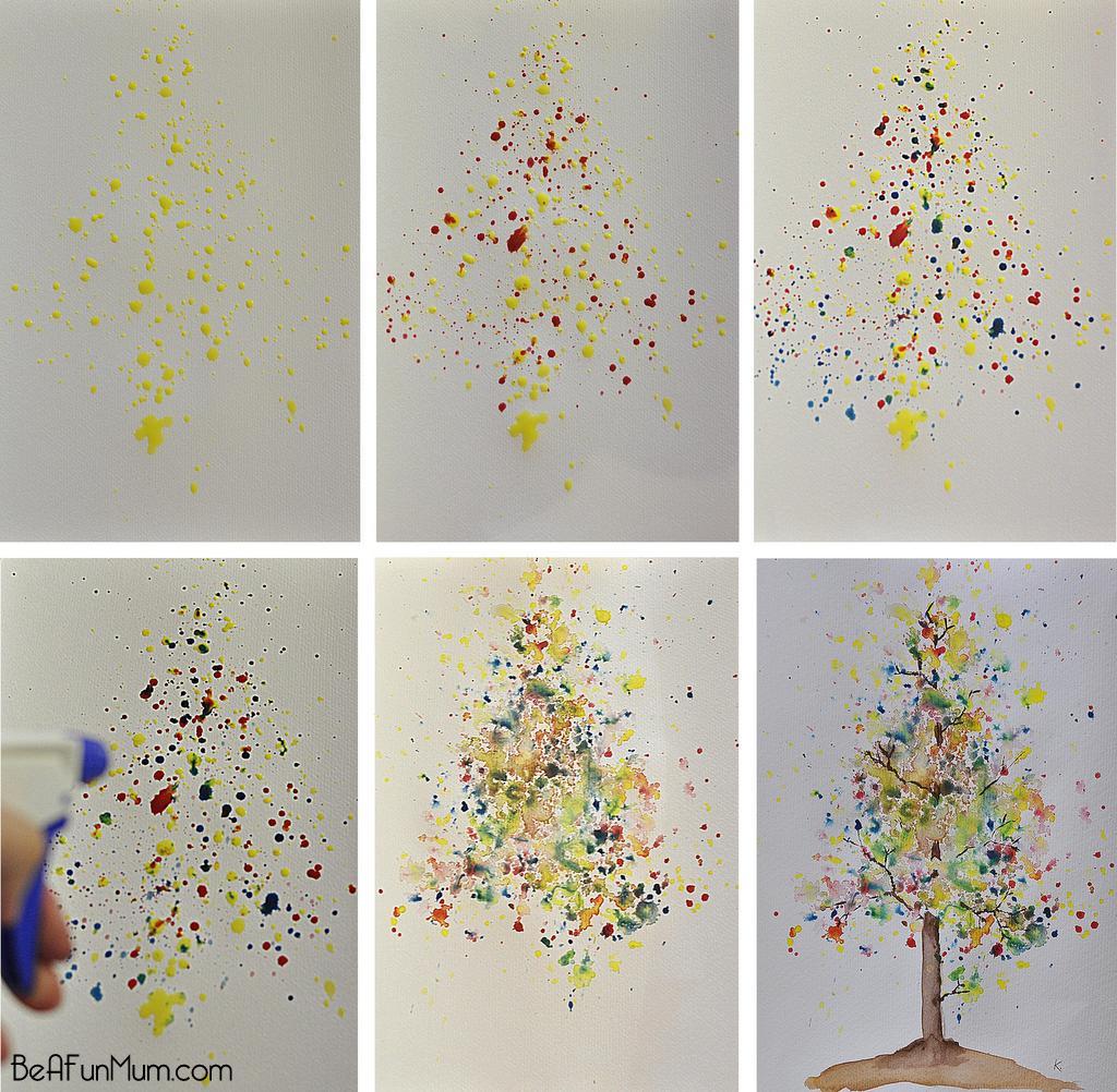 watercolour tree -- autumn bloom tutorial