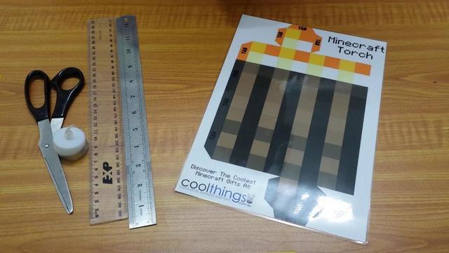 photo relating to Minecraft Printable Paper identify Minecraft Torch (With Flickering Gentle) Be A Entertaining Mum