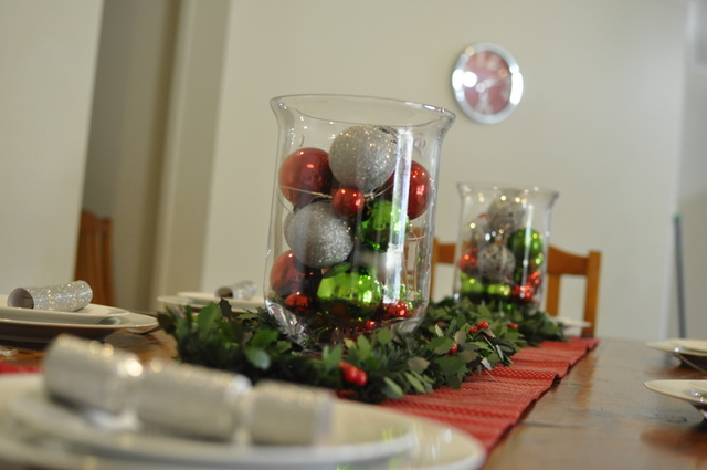 Christmas Table Baubles Garland Be A Fun Mum