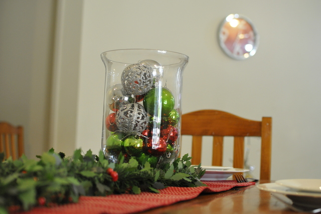 Christmas Table Baubles Amp Garland Be A Fun Mum