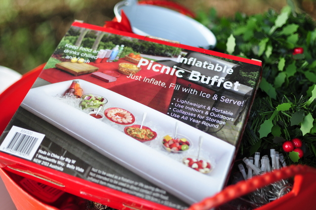 inflatable blow up buffet - perfect for outdoor Christmas - beafunmum.com