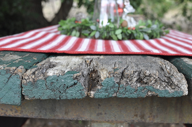 Outdoor Christmas Ideas - use a picnic mat as a tablecloth - beafunmum.com