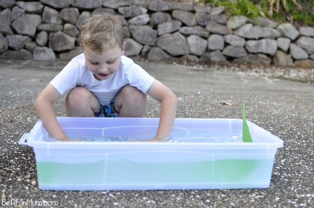 water play for kids -- how to make ice boats