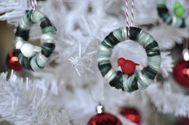 Bird wreath - handmade Christmas Tree decorations - beafunmum.com