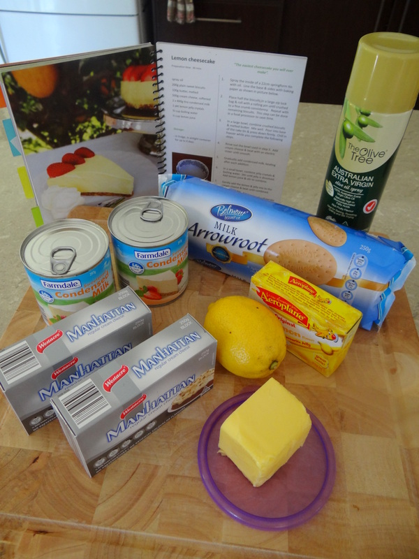 ingredients -- easy lemon cheesecake recipe