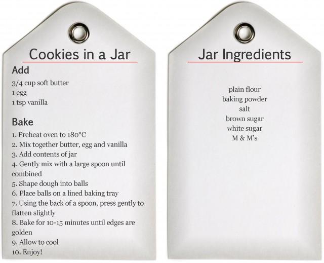 Cookies in a Jar Recipe -- Printable - beafunmum.com