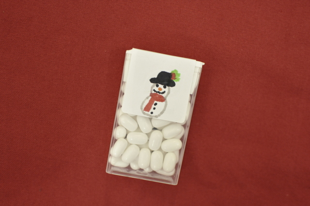 Snowman Tic Tac