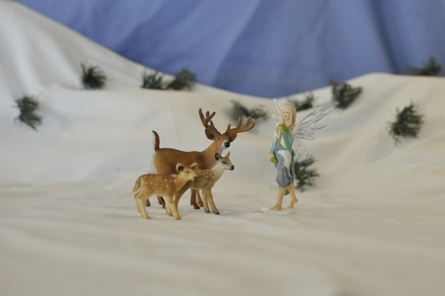 White christmas - Schleich figurine - fairy / deer
