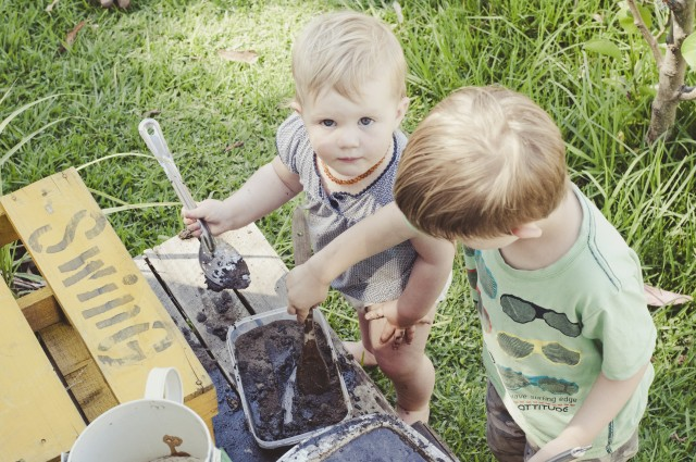 fun for kids -- mud kitchen