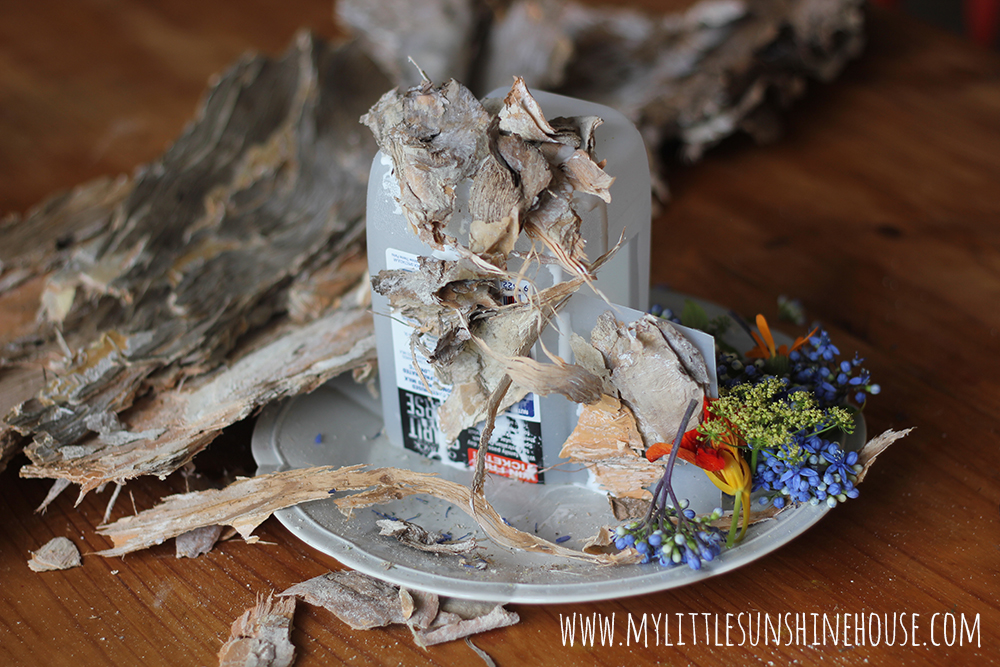 Make a fairy house out of natural materials be a fun mum - Houses made from natural materials ...