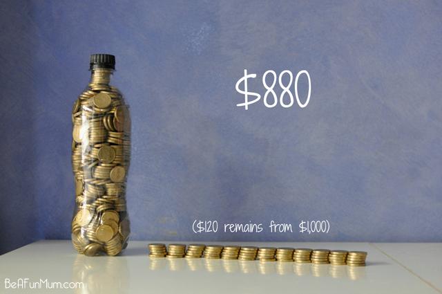 $880 fit in a 600ml Coke Bottle - on beafunmum.com