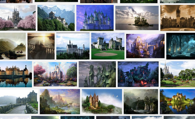 Castle wall papers