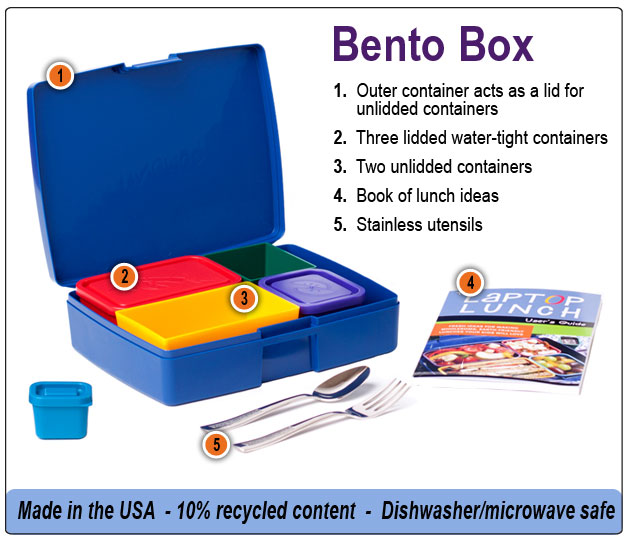 bento laptop lunch boxes features