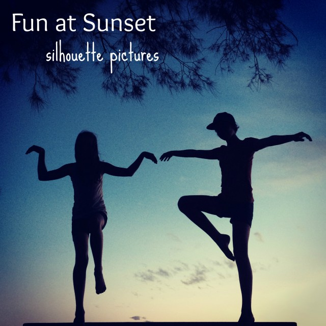 Fun at Sunset: silhouette pictures