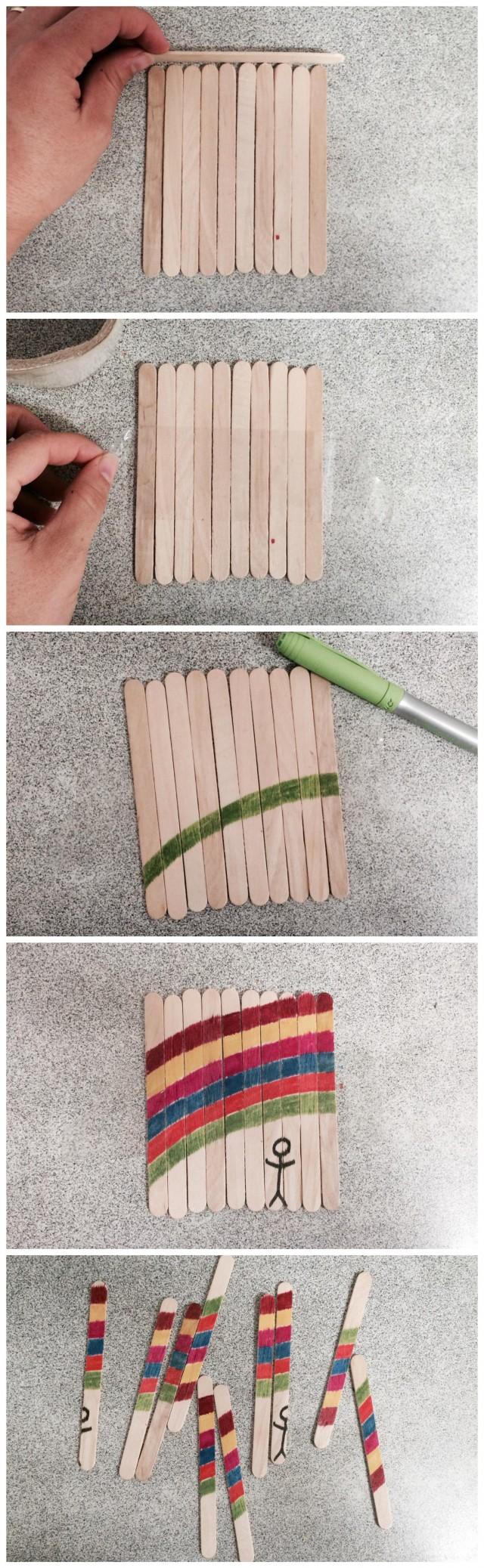 padle pop stick puzzle - popsicle stick puzzle - on beafunmum.com