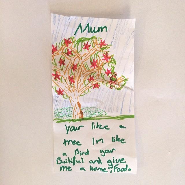 I'm a tree; She's a bird - motherhood