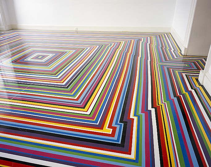Jim Lambie - ZPBOP - Vinyl Tape Floors -  National Galleries