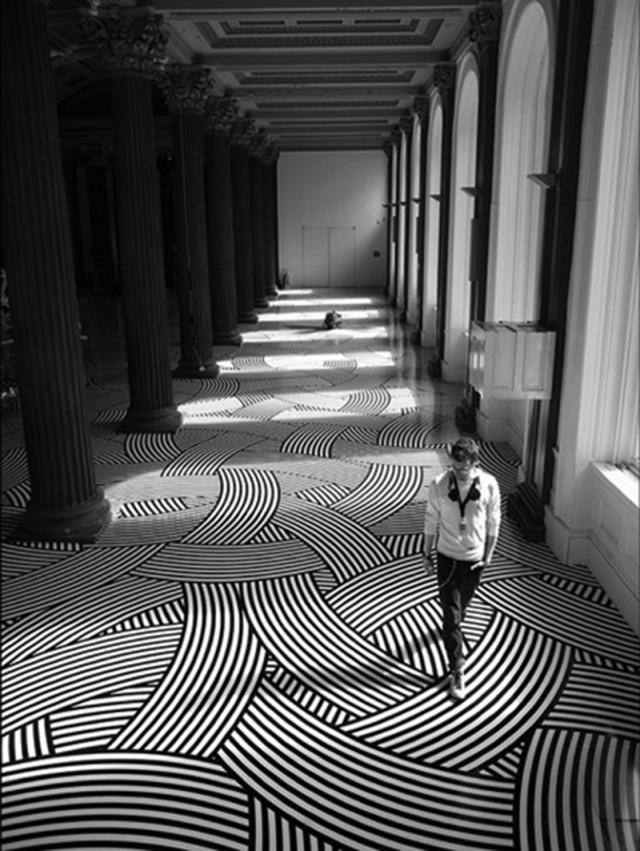 Black and White Floors - Jim Lambie