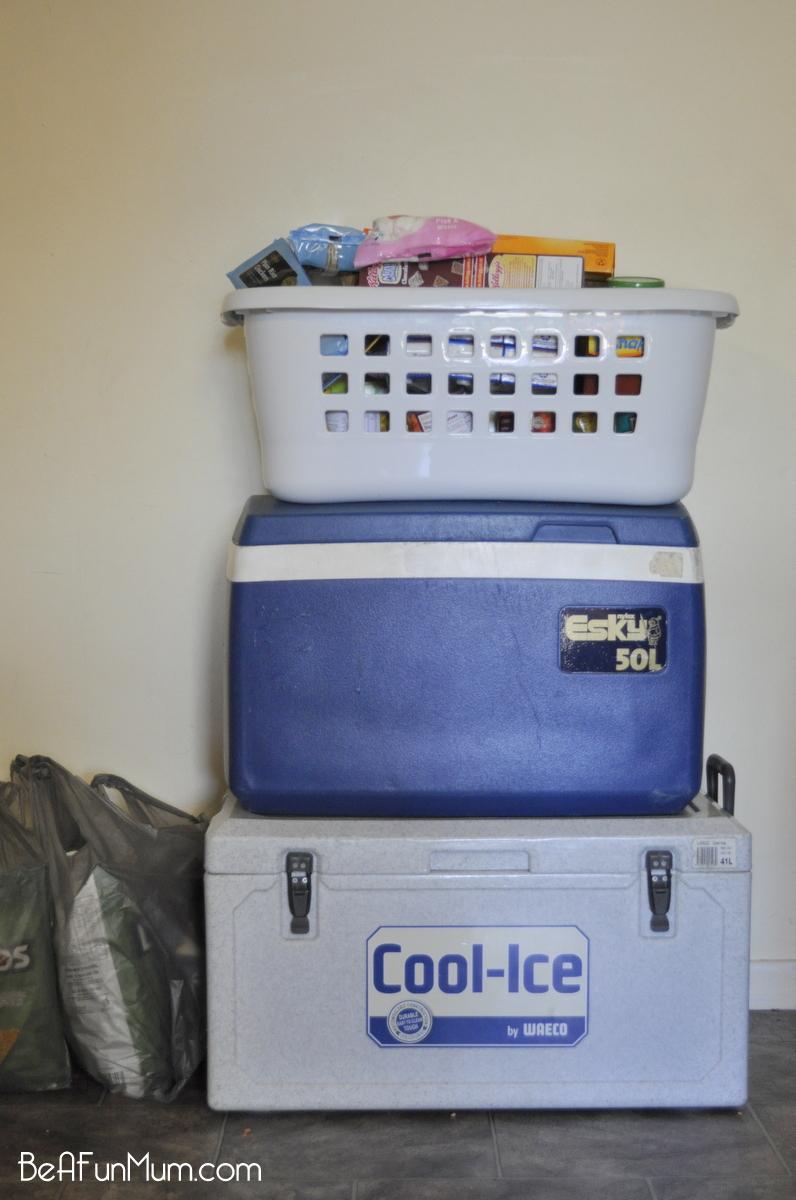 Transporting & storing camping food