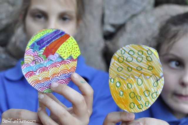 Easter Craft - hatched egg template