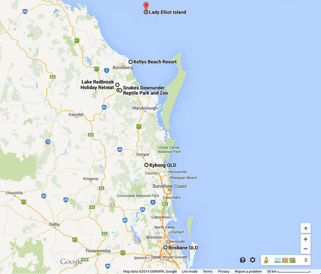Queensland Road Trip - Brisbane to Great Barrier Reef