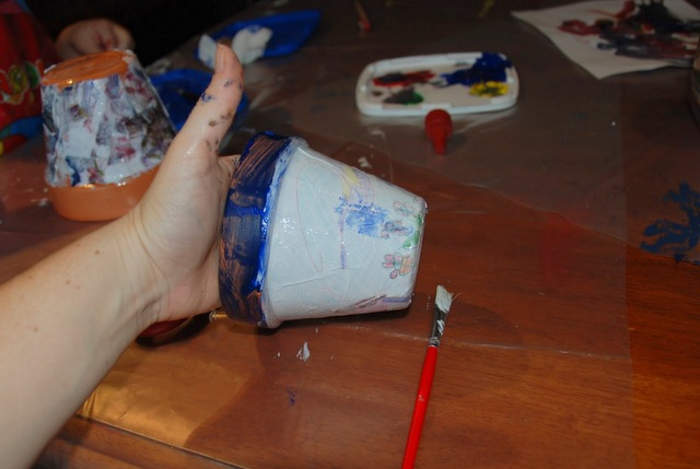 how to decoupage a pot