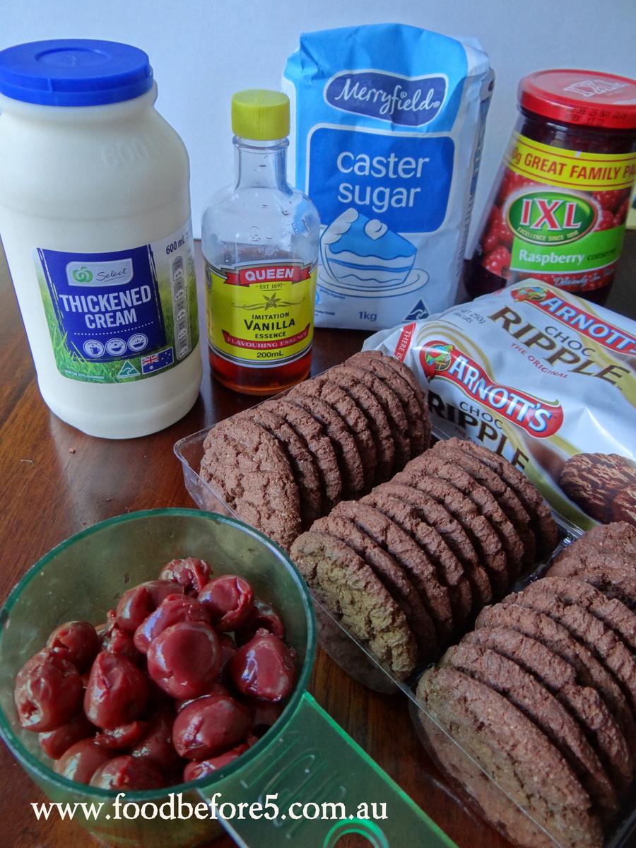 Black Forrest Cookie Cake Ingredients