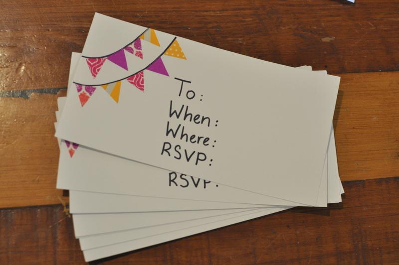 Bunting Invitations