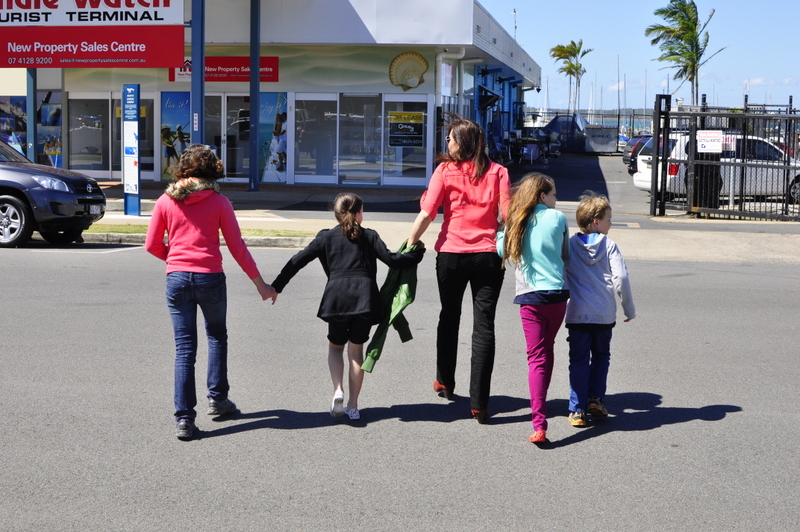 Crossing the road with kids