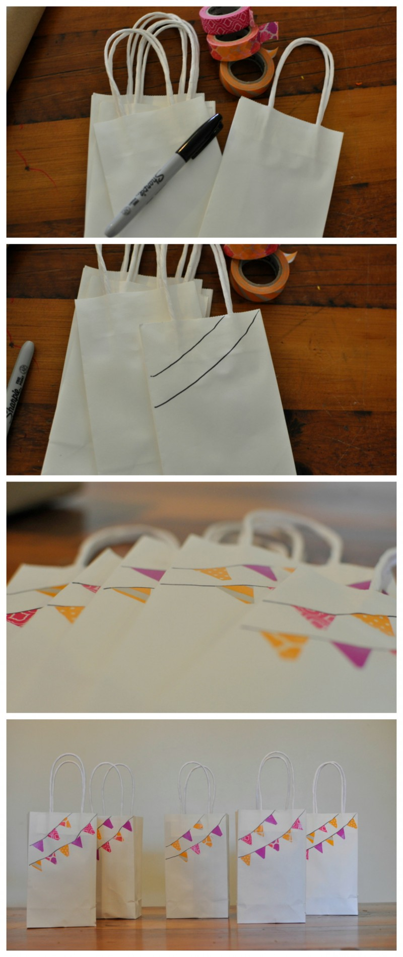 Washi Tape Party Bags