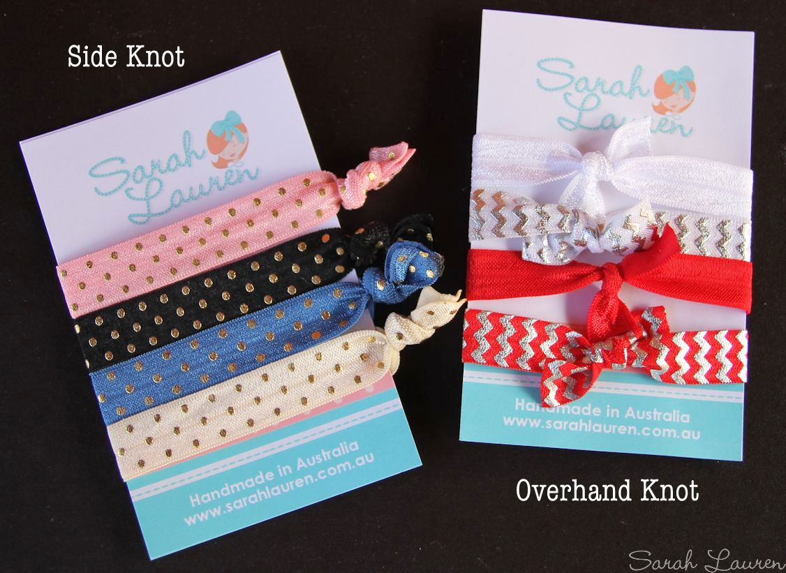 DIY FOE Hair tie tutorial - side knot / overhand knot