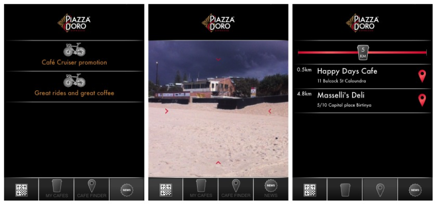 Piazza D'oro coffee app