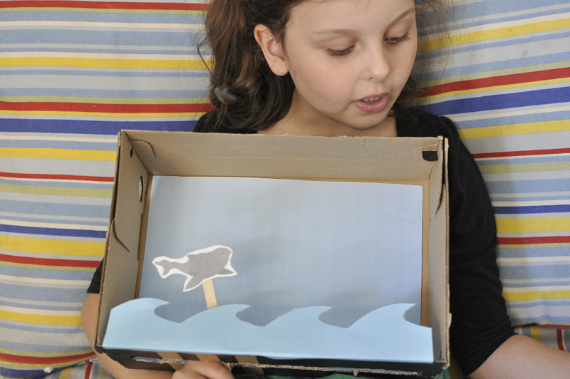 Shoebox puppet theatre