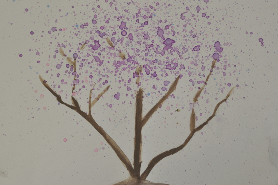Jacaranda Tree - Watercolour Tutorial for kids