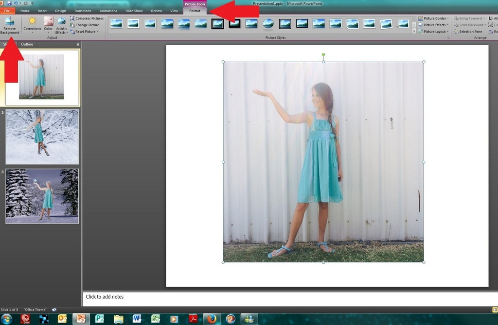 Activity for tweens: how to remove the background of a photo in Powerpoint