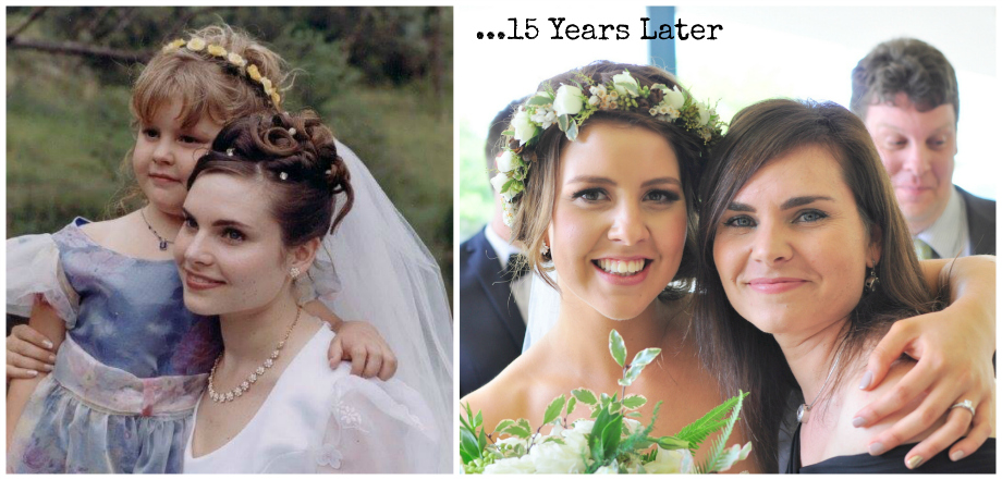 Flower Girl then and now