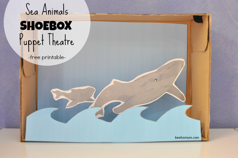 Sea Animals Shoebox Puppet Theatre
