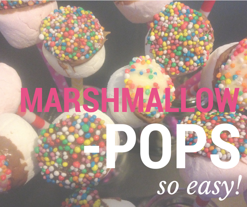 Easy Marshmallow Pops - Great for birthday parties!